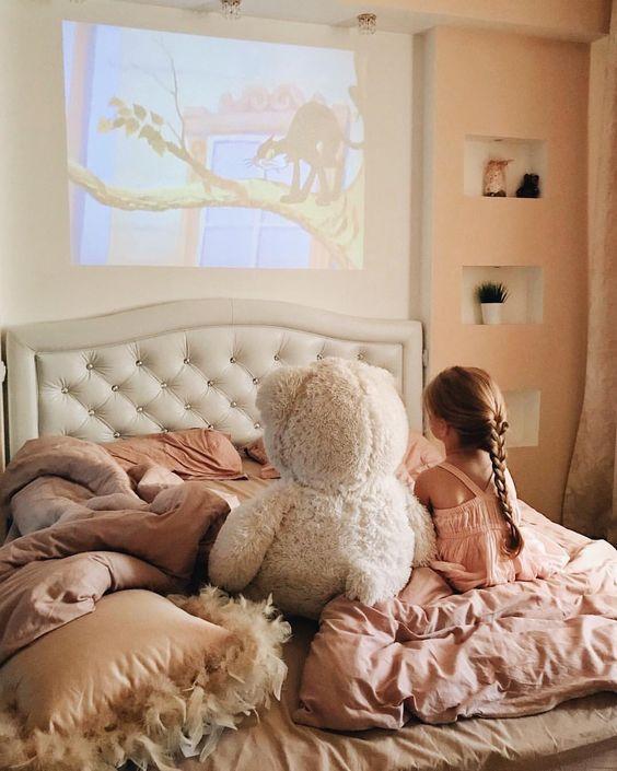 dormitorio con niños